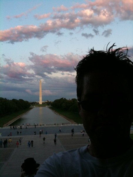 The view from the Lincoln Memorial.